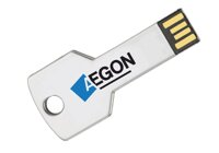 USB flash printing USB267 metal key silver